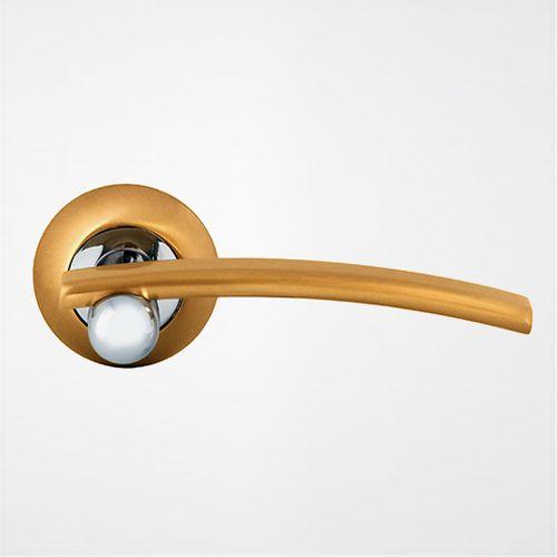 Ручка дверная Модерн ROSSI MEDAN LD 22 1 Золото матовое-никель