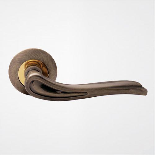 Ручка дверная Модерн ROSSI SIRIO LD 64 1 Бронза античная-золото
