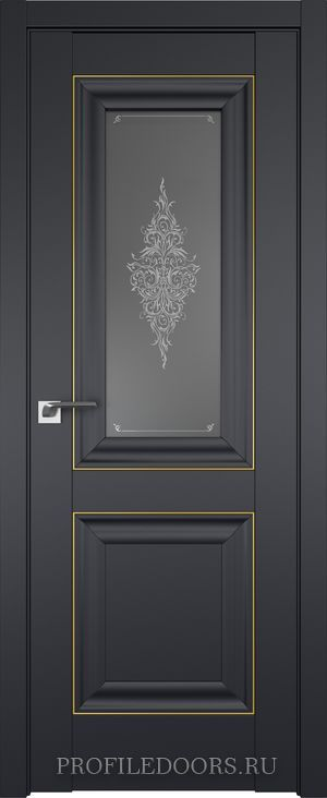 28U Черный матовый Кристалл графит Золото