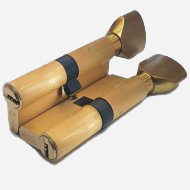 Цилиндр перфо-ключ Vantage PC60 30x30 SB Матовое золото
