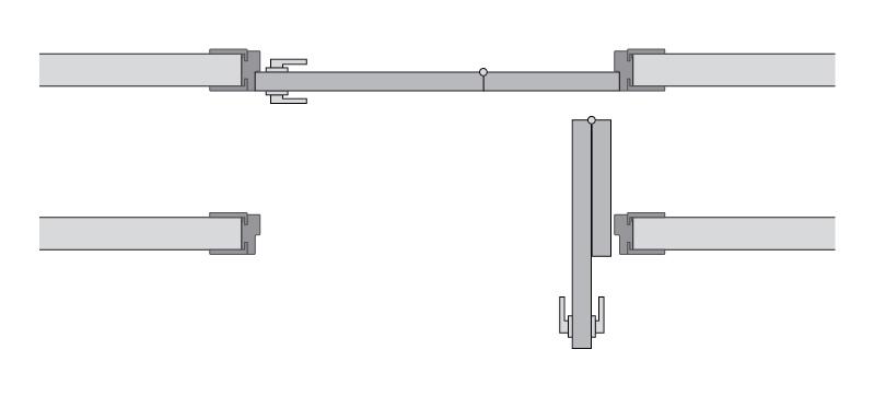 Одностворчатые двери книжка левая схема
