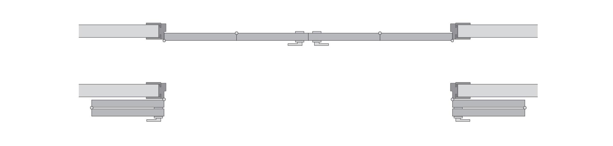Двухстворчатая cистема Compack схема