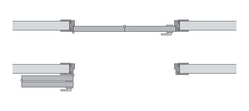 Одностворчатая cистема Compack схема правая